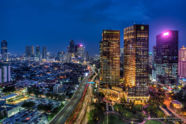 Jakarta sampoerna strategic building evening