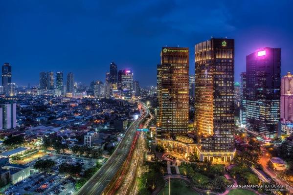 Jakarta sampoerna strategic building evening